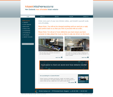 Website design testimonials and references for Kitset kitchens